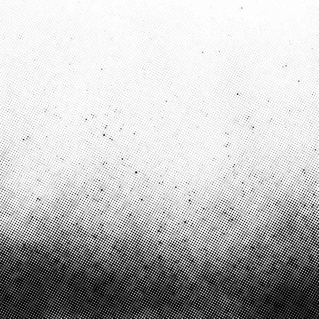 Gradient halftone vector texture overlay. Monochrome abstract splattered background.