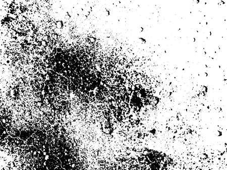 Vintage grunge vector texture overlay. Monochrome abstract splattered background.