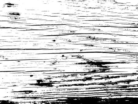 Old barn wood plank grunge texture overlay. Vintage natural vector background with cracks Ilustrace