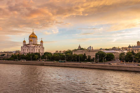 View of The Moskva-River with Cathedral of Christ the Savior in