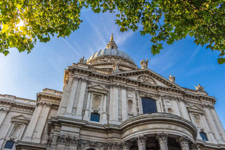 St. Pauls cathedral in sunny day. London, England