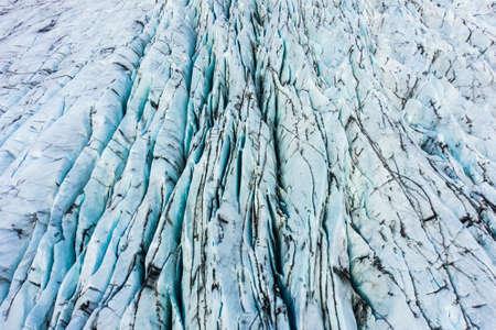 Svinafellsjokull glacier in Iceland. Aerial View
