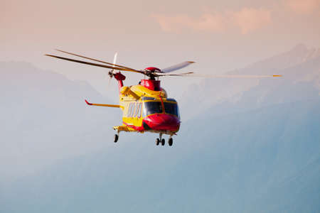 rescue Helicopter in fly