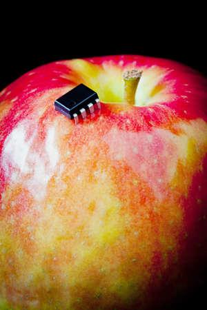 bionic apple - concept - close up