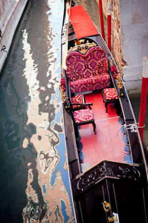 Typical Gondola details - Venice Italy