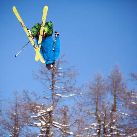 ski free style - jump on air