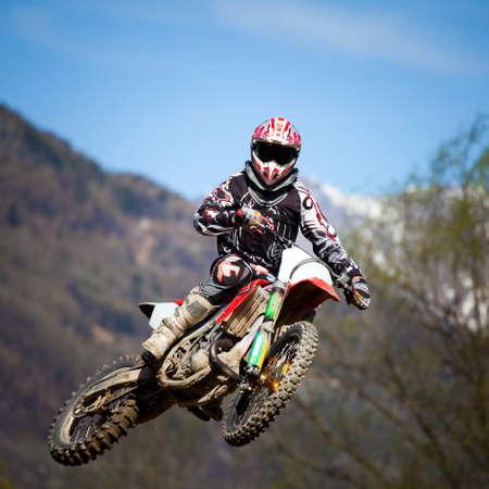 motocross race on dirt road Reklamní fotografie