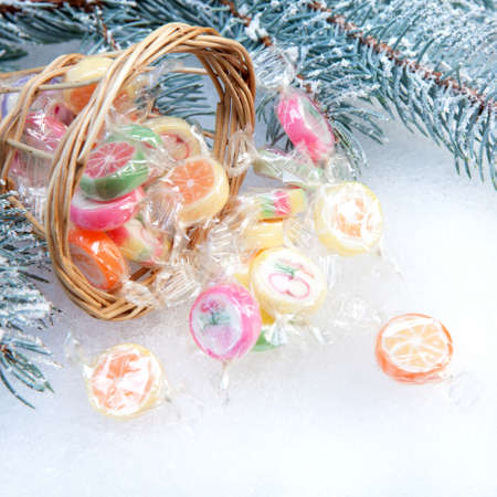 candies in Christmas context - close up