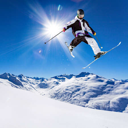 free rider in fresh snow