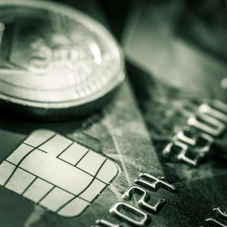 credit card detail - close up Archivio Fotografico