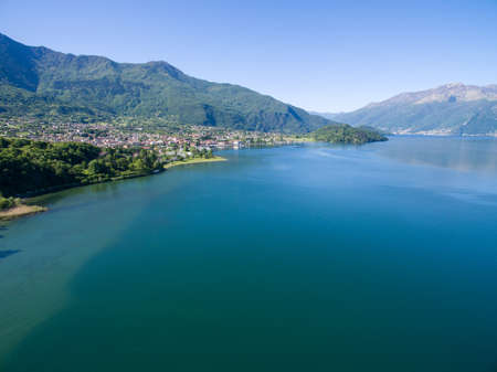Como Lake (IT) - Colico- aerial view
