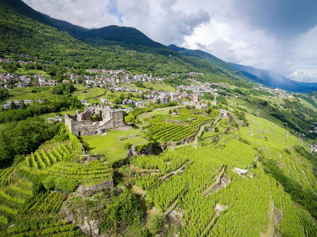 Valtellina (IT) - Grumello vineyards near Sondrio