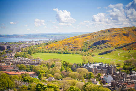 Edinburgh - Scotland - View of Holyroodhouse from Calton Hill