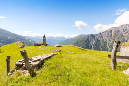Church of San Romerio (1106) - Poschiavo Valley - Canton of Graubnden - Switzerland