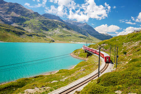 red train - Bernina Pass - Switzerland
