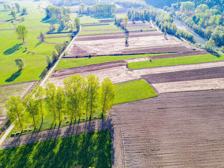 Valtellina (IT) - Aerial view in the Tresenda area
