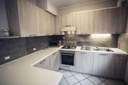 modern corner kitchen furniture composition