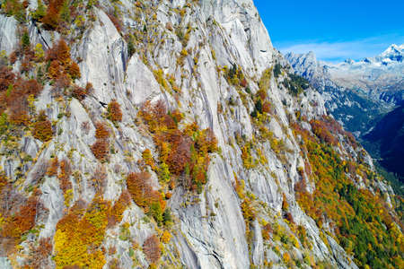 Val di Mello, Valmasino (IT), Autumnal aerial view