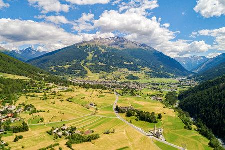 Bormio, Valtellina (IT), Panoramic aerial view