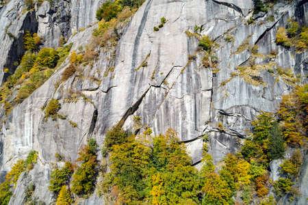 Val di Mello, Valtellina (IT), Autumn landscape, Aerial view