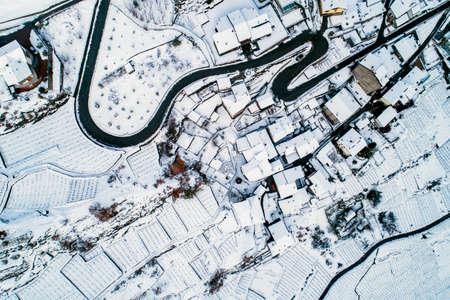 Valtellina (IT), Sondrio, Sant'Anna, aerial view