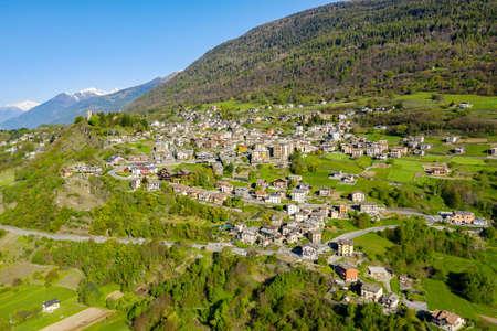 Teglio, Valtellina (IT), Aerial view of the town
