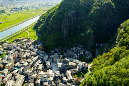 Valtellina (IT), Sirta, Aerial view