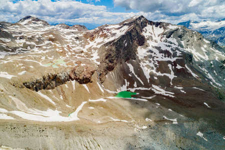 Alps, spring thaw with ponds