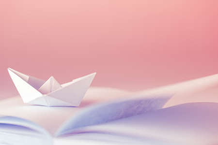 Origami, Paper boat on sheet