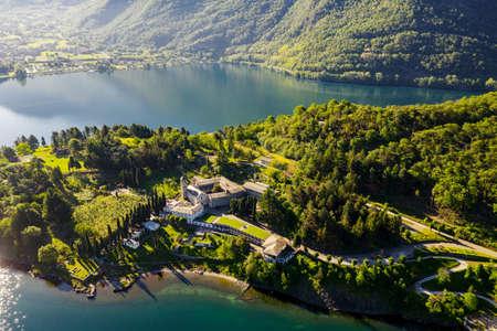 Piona Abbey, San Nicola, Lake Como (IT), Priory, Aerial overview