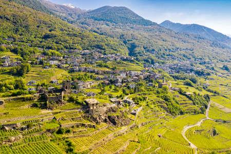 Valtellina (IT), Mountain in Valtellina, Castel Grumello area, Church of San Antonio Abate Archivio Fotografico