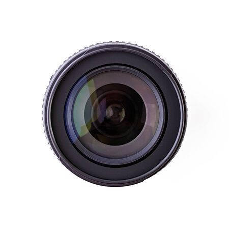 Camera lens isolated on a white background Stock Photo