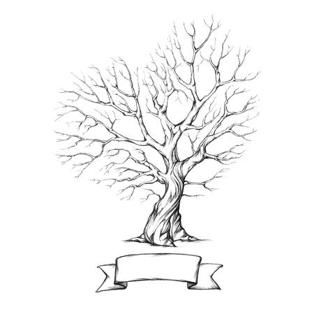 ハートの王冠を持つツリー