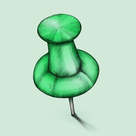 mooring: Illustration of a green pin