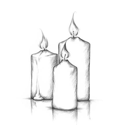 fleming: Illustration of three burning candles