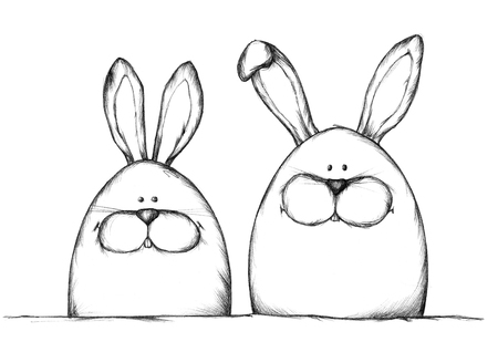 ambiguous: Easter egg bunnies