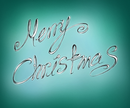 Handmade lettering illustration of Merry Christmas Stock Photo