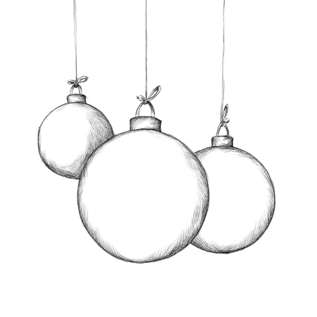 hand knot: Illustration of some christmas tree balls