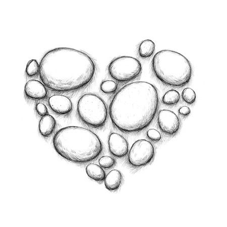 heartshaped: Illustration of some Easter eggs in heart shape
