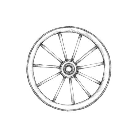 cartwheel: Illustration of a simple wagon wheel