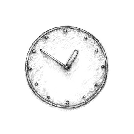 analogous: Illustration of a simple clock on a white background