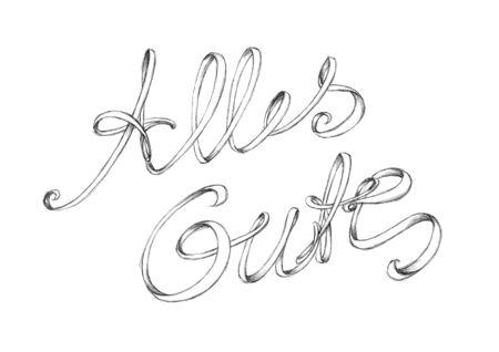 Illustration of a handwritten lettering All the best Stock fotó