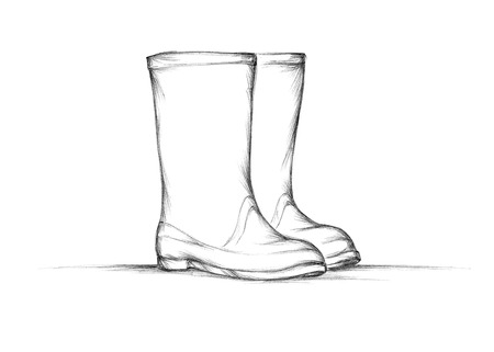 Illustration of Simple rubber boots