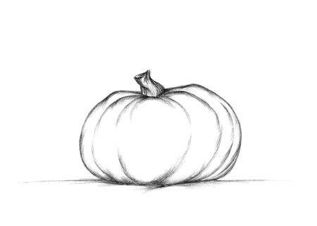 Illustration of a simple pumpkin on a neutral ground