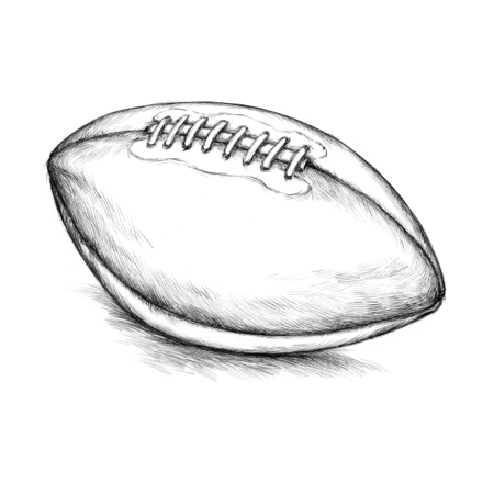 Illustration of a classic leather football
