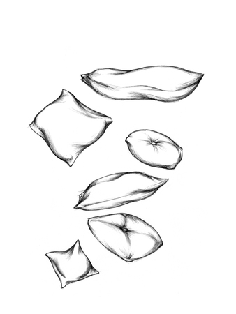 Illustration of some different cushions 写真素材