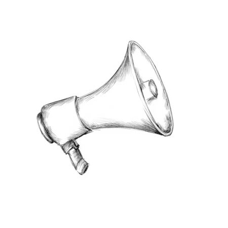 Illustration of a simple megaphone