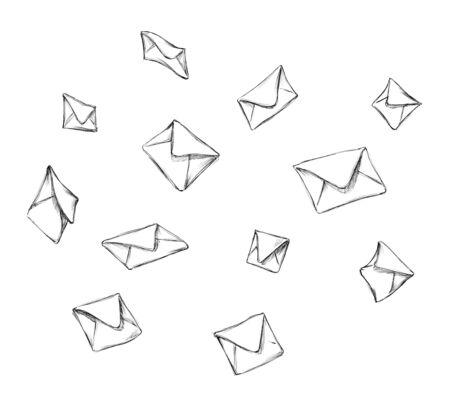 Illustration of some falling envelopes