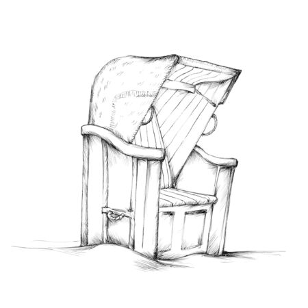 Illustration of a north german beach chair