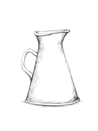 Illustration of an Enameled pot